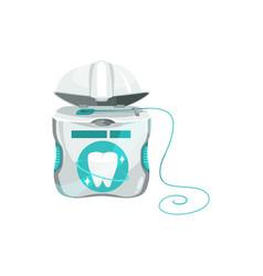 dental floss in box or case isolated silk thread vector image