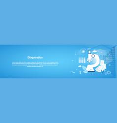 diagnostics medical treatment web horizontal vector image