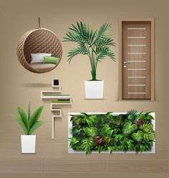 Eco-minimalist furniture vector