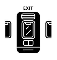 Emergency exit glyph icon vector