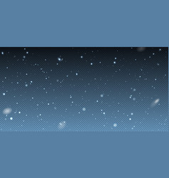 falling winter christmas realistic snow on vector image