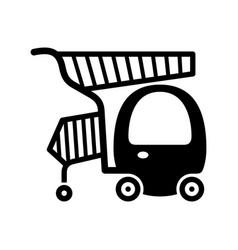 Family shopping cart vector
