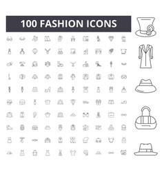 fashion line icons signs set outline vector image