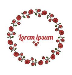 floral wreath natural flower frame vector image