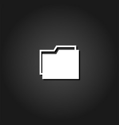 folder icon flat vector image
