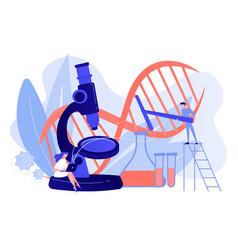 genetic engineering concept vector image