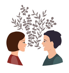 girls and guy talk togetherness and communication vector image