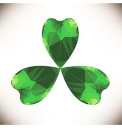 Green Clover Leaf vector