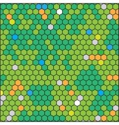 Green honeycomb abstract geometric hexagon grid vector