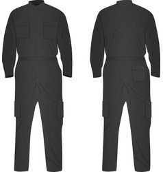 grey repairman uniform vector image