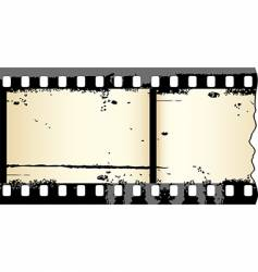 grunge film strip vector image