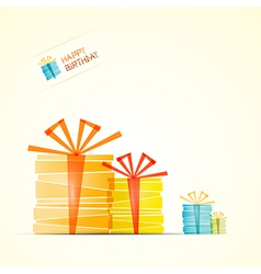 Happy Birthday Theme Present Boxes vector image