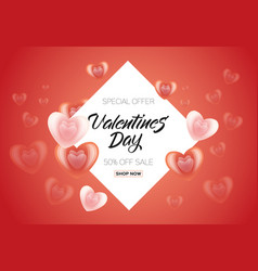 happy valentines day sale poster banner vector image