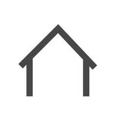 home icon simple car sign vector image