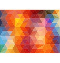 horizontal multicolor polygonal banner vector image