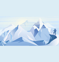 ice mountains vector image