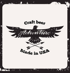 label craft beer vector image