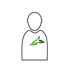man with plant green vector image