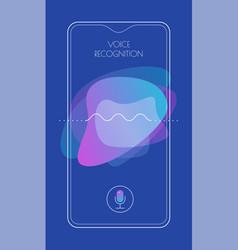 mobile app ui personal voice assistant concept vector image