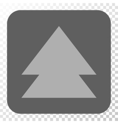 Move Up Rounded Square Button vector