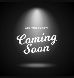 Mystery product coming soon poster background vector