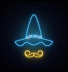 oktoberfest neon signboard portrait vector image