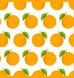 oranges pattern fresh oranges on white background vector image