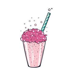 Oxygen cocktail color vector