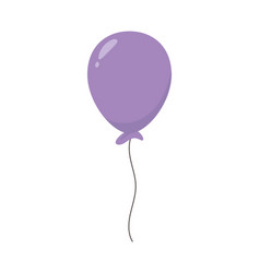 purple balloon party decoration celebration vector image