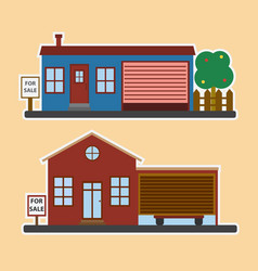 real estate concept with house for sale vector image