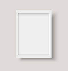 Realistic vertical blank picture frame vector