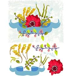 Retro flowers Cute floral bouquet vector