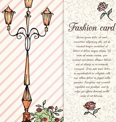 retro hand drawn design card vector image