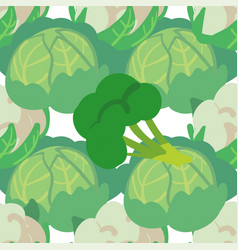 Seamless pattern with hand drawn vegetables farm vector