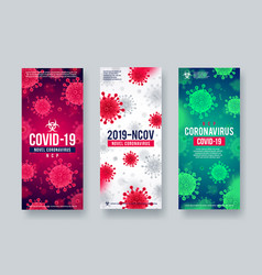 set coronavirus background vector image