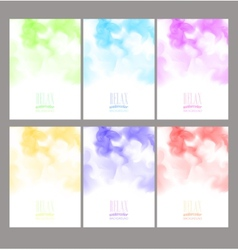 Set of bright colorful watercolor background vector image