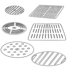 set of cover the drain vector image