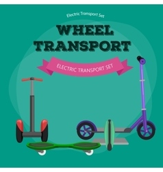 Set of one-wheeled and two-wheeled Self-balancing vector image