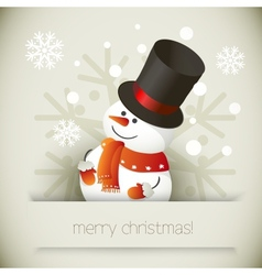 Snowman for Christmas design vector