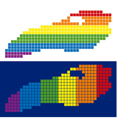 Spectrum pixel dotted ontario lake map vector