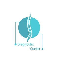 Spine pain medical logo mockup spinal diagnostic vector image