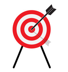 target arrow strategy research icon vector image
