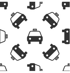 taxi car icon seamless pattern on white background vector image