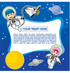Template background design with moslem astronaut vector