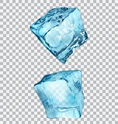 Transparent ice cubes vector
