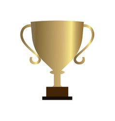 Trophy icon with a white background vector