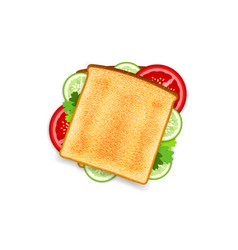 Vegetarian sandwich vector