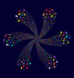 Video gpu card rotation abstract flower vector