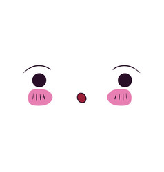 colorful facial expression kawaii surprised vector image