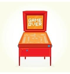 Game over retro pinball machine vector image vector image